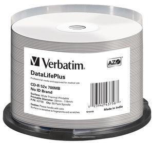 VERBATIM 50x CD-R DL+ 700MB 52x SP