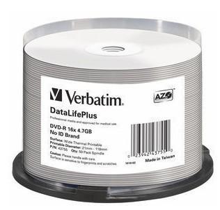 VERBATIM 50xDVD-R 4,7GB 16x SP