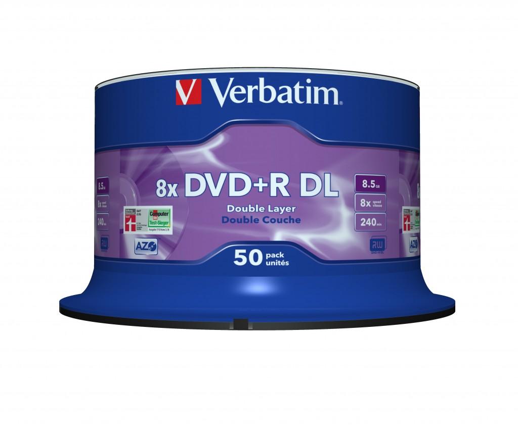 VERBATIM 43758 DVD+R DL Verbatim [ spind
