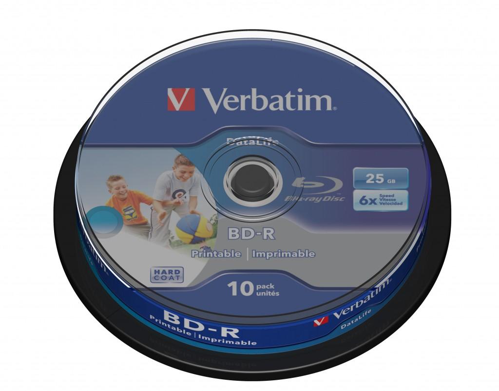 VERBATIM 43804 BluRay BD-R SL DATALIFE V