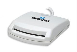 Manhattan 172844 kiipkaardilugeja Valge USB 1.1
