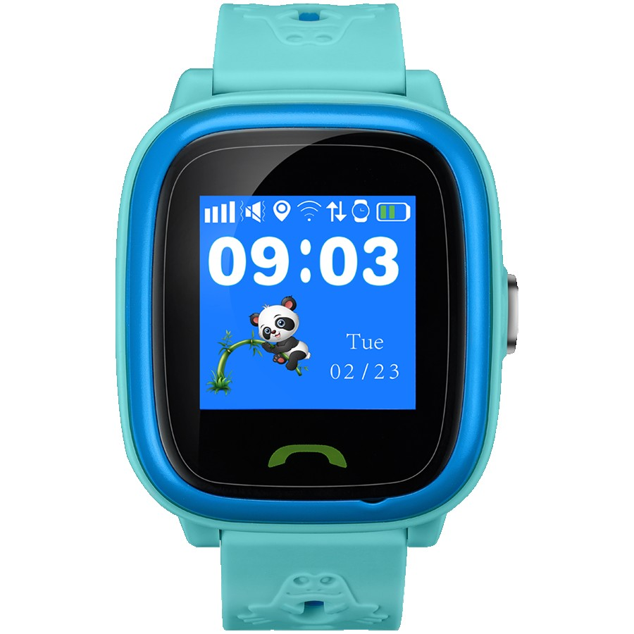 Kids smartwatch, 1.22 inch colorful screen,  SOS button, single SIM,32+32MB, GSM(850/900/1800/1900MHz), IP68 waterproof, Wifi, GPS, 420mAh, compatibility with iOS and android, Blue, host: 46*40*15MM, strap: 180*20mm, 46g, for Baltic