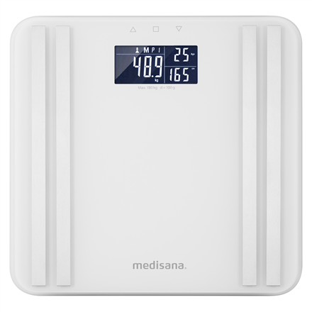 Medisana Body Analysis Scale BS 465 Memory function, White, Body fat analysis, Body water percentage, Auto power off, Multiple users, Maximum weight (capacity) 180 kg