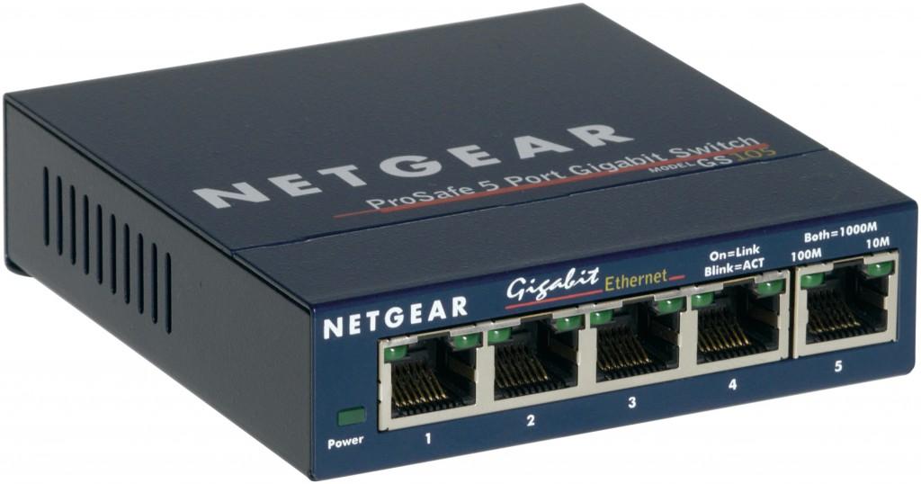 NETGEAR 10/100/1000 5port Switch