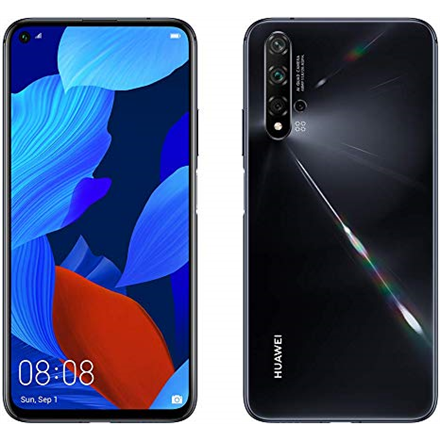 "Huawei Nova 5T Black, 6.26 "", IPS LCD, 1080 x 2340, HiSilicon Kirin, 980, Internal RAM 6 GB, 128 GB, Dual SIM, Nano-SIM, 3G, 4G, Main camera 48+16+2+2 MP, Secondary camera 32 MP, Android, 9.0, 3750 mAh"
