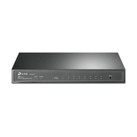TP-LINK Switch T1500G-8T (TL-SG2008) Web Managed, Desktop, 1 Gbps (RJ-45) ports quantity 8, PoE ports quantity 8, Power supply type External