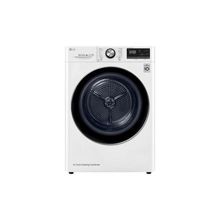 LG Dryer Machine RC80V9AV3Q Energy efficiency class A+++, Front loading, 8 kg, Heat pump, LED touch screen, Depth 69 cm, Wi-Fi, White