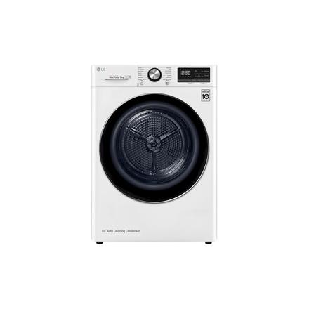 LG Dryer Machine RC90V9AV2Q Energy efficiency class A+++, Front loading, 9 kg, Heat pump, LED touch screen, Depth 69 cm, Wi-Fi, White