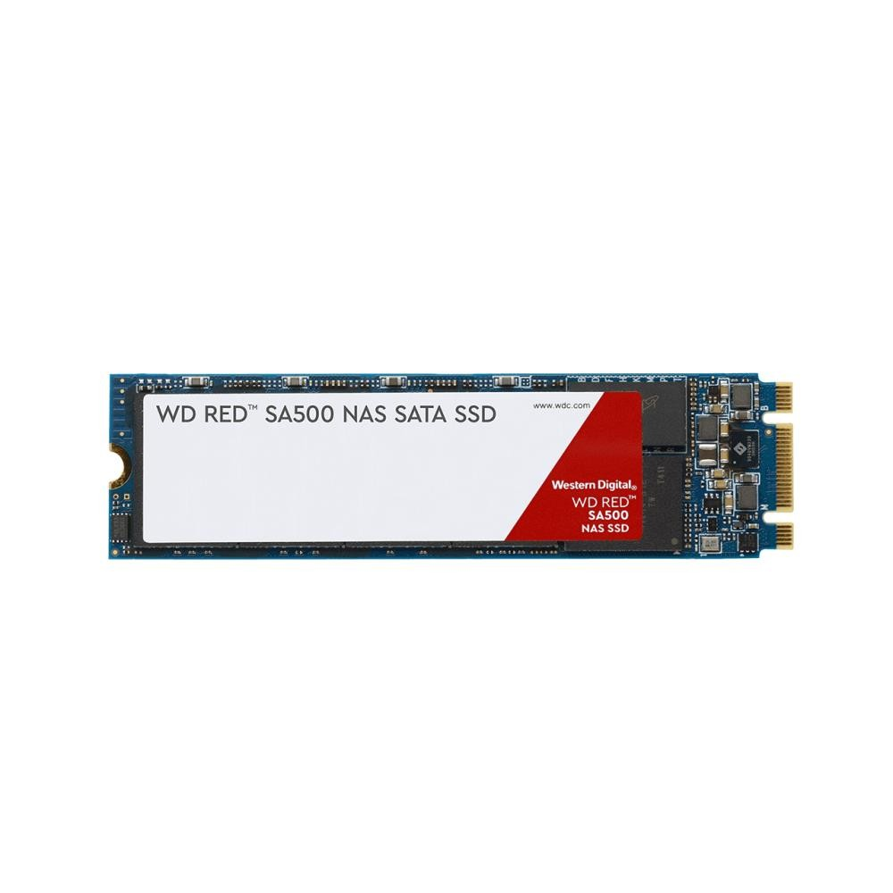 SSD|WESTERN DIGITAL|Red|500GB|M.2|SATA 3.0|Write speed 530 MBytes/sec|Read speed 560 MBytes/sec|MTBF 2000000 hours|WDS500G1R0B