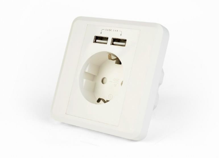POWER SOCKET OUTLET W/2USB/EG-ACU2A2-01 GEMBIRD