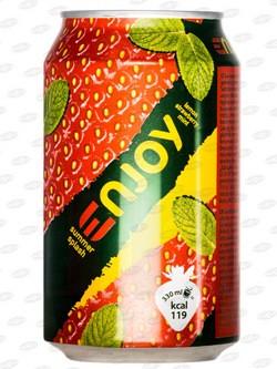 Gaseeritud jook CIDO Enjoy sidrun-maasikas, 330 ml, purk