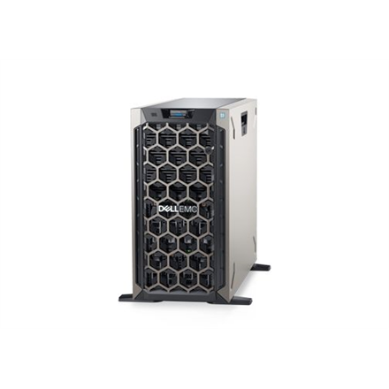 "Dell PowerEdge T340 Tower, Intel Xeon, E-2134, 3.5 GHz, 8 MB, 8T, 4C, UDIMM DDR4, 2666 MHz, No RAM, No HDD, Up to 8 x 3.5"", Hot-swap hard drive bays, PERC H730P, Dual, Hot-plug, Redundant, Power supply 495 W, iDRAC9 Enterprise, No Rails, No OS, Warranty Basic Onsite 36 month(s)"