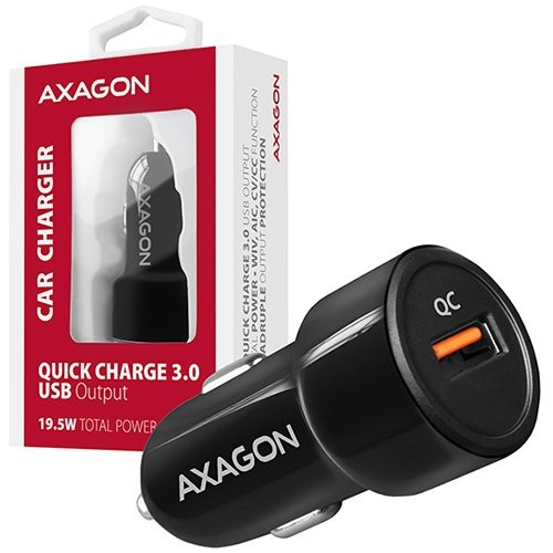 AXAGON PWC-QC car charger 1x QC3.0, 18W, black