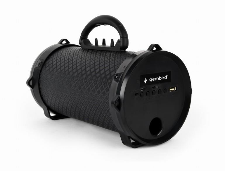 Portable Speaker|GEMBIRD|Boom|Portable/Wireless|1xMicro-USB|1xMicroSD Card Slot|Bluetooth|Black|SPK-BT-12