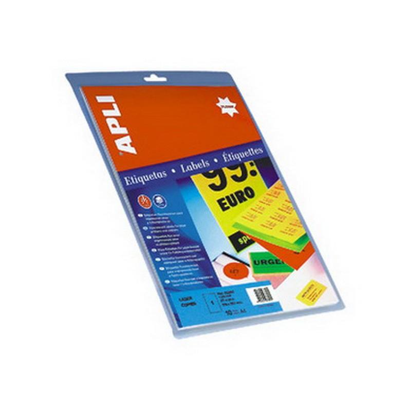 Etiketid Apli iseliimuvad neoon 64 x 33,9mm 20l/pk oranž