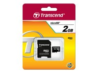 TRANSCEND Micro SD Card 2GB with adapter