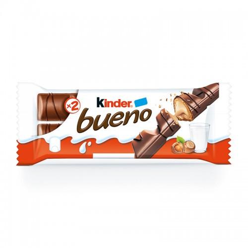 Piimašokolaad KINDER Bueno krõbeda ümbrise ja pähkli- ja piimakreemi täidisega, 43g