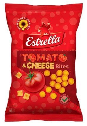 Maisikrõpsud ESTRELLA Bites tomati ja juustu, 140g