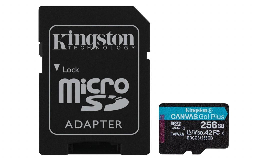 KINGSTON 256GB microSDXC Canvas Go Plus