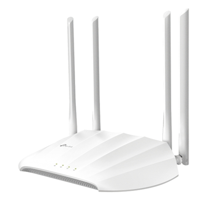 TP-LINK Access Point TL-WA1201 802.11ac, 2.4GHz/5 GHz, 300+867 Mbit/s, 10/100/1000 Mbit/s, Ethernet LAN (RJ-45) ports 1, no PoE, Antenna type 4 Fixed High Performance
