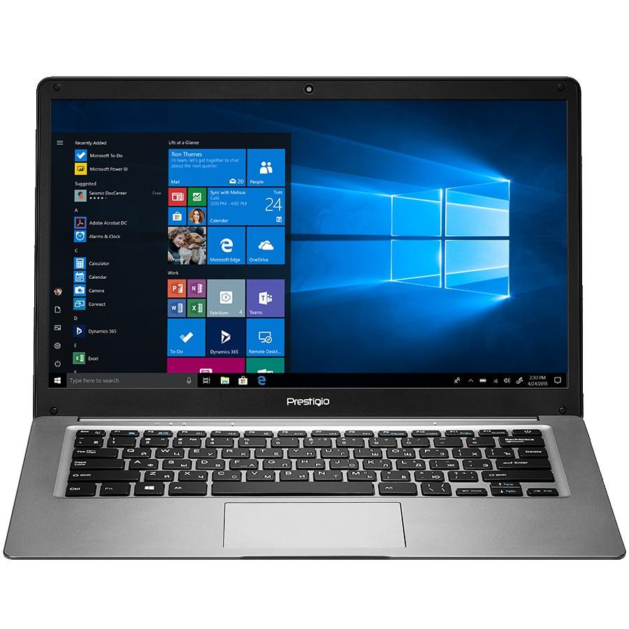 "Prestigio SmartBook 141 C3, 14.1"" (1366*768) TN, Windows 10 Home (English), up to 1.92GHz Quad Core Intel Atom Z8350, 2GB DDR, 64GB Flash, BT 4.0, WiFi, USB 3.0, USB 2.0, MicroSD card slot, mini HDMI port, 0.3MP cam, EN kbd, 8000mAh bat, color/Dark grey"