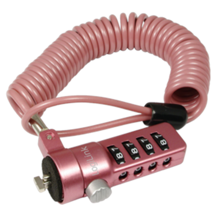 Logilink NBS007,  Notebook Coil Cable Lock, pink