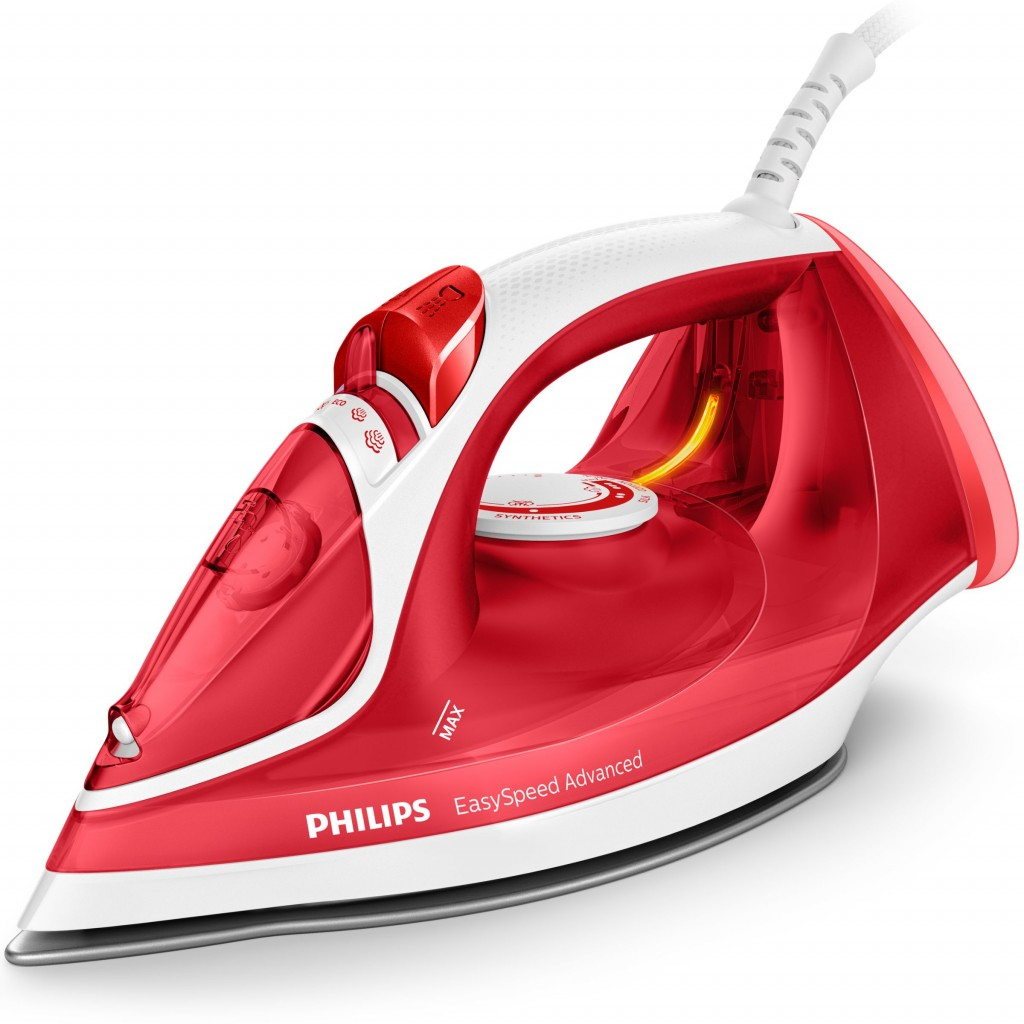 Philips Iron GC2672/40 Steam, 2300 W, Water tank capacity 300 ml, Continuous steam 35 g/min, Steam boost performance 180 g/min, Red