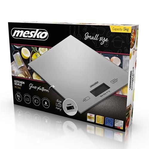 Mesko Kitchen Scales MS 3145 Maximum weight (capacity) 5 kg, Graduation 1 g, Silver, Warranty 24 month(s)