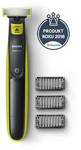 Philips Shaver OneBlade QP2520/20 Cordless, Charging time 8 h, Operating time 45 min, Wet use, NiMH, Number of shaver heads/blades 1, Grey/Green
