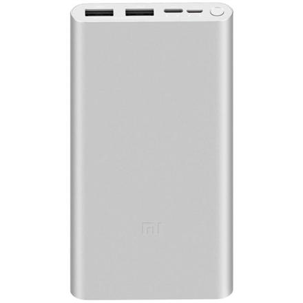 Xiaomi Mi 18W Fast Charge Power Bank 3 10000 mAh, Silver