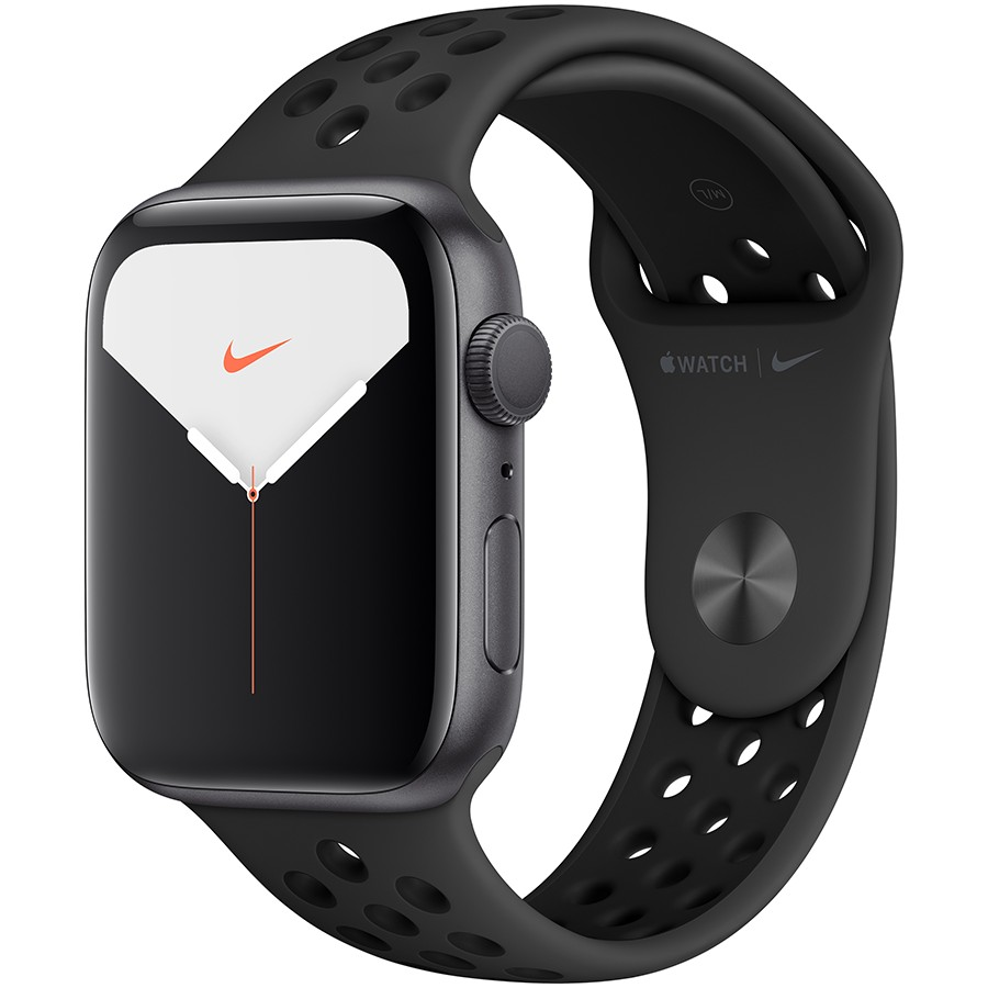 Apple Watch Nike Series 5 GPS, 44mm Space Grey Aluminium Case with Anthracite/Black Nike Sport Band - S/M & M/L Model nr A2093