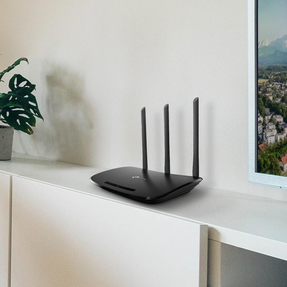 TP-LINK TL-WR940N juhtmevaba ruuter Kiire Ethernet Üks sagedusala (2,4 GHz) Must