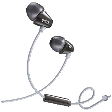 TCL In-ear Wired Headset ,Frequency of response: 10-22K, Sensitivity: 105 dB, Driver Size: 8.6mm, Impedence: 16 Ohm, Acoustic system: closed, Max power input: 20mW, Connectivity type: 3.5mm jack, Color Phantom Black