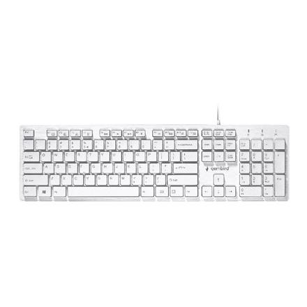 "Gembird Multimedia ""Chocolate"" Keyboard KB-MCH-03-W UBS Keyboard, Wired, Keyboard layout US, White"