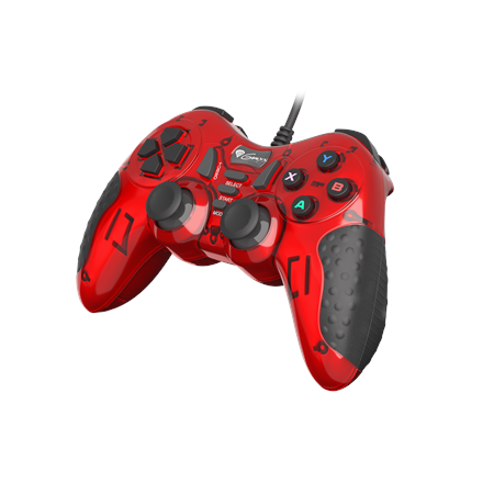 GENESIS Mangan 200 Gamepad, Red, Wired