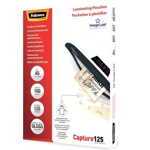 LAMINATOR POUCH IMAGELAST/A5 125 100PCS 5307302 FELLOWES