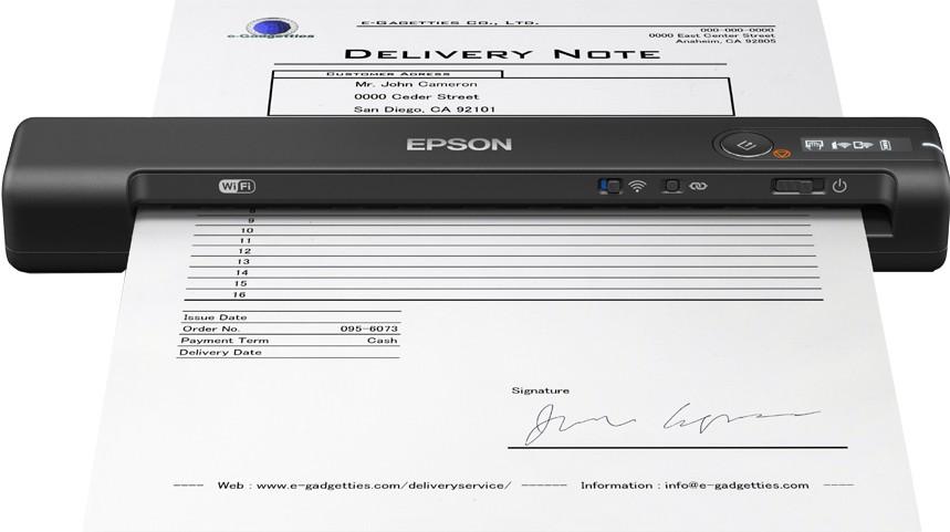 Epson WorkForce ES-60W 600 x 600 DPI Poogna-skänner Must A3