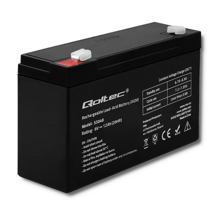 AGM battery 6V 12Ah
