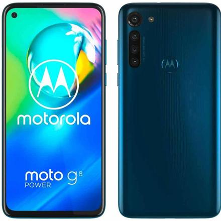 "Motorola Moto G8 Power Blue, 6.4 "", IPS LCD, 1080 x 2300 pixels, Qualcomm SDM665 Snapdragon 665, Internal RAM 4 GB, 64 GB, microSD, Dual SIM, Nano-SIM, 3G, 4G, Main camera 16+8+8+2 MP, Secondary camera 16 MP, Android, 10.0, 5000 mAh"