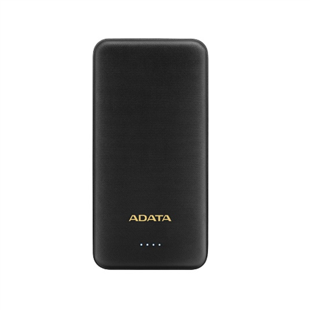 ADATA Power bank AT10000 10000 mAh, Dual USB, Black
