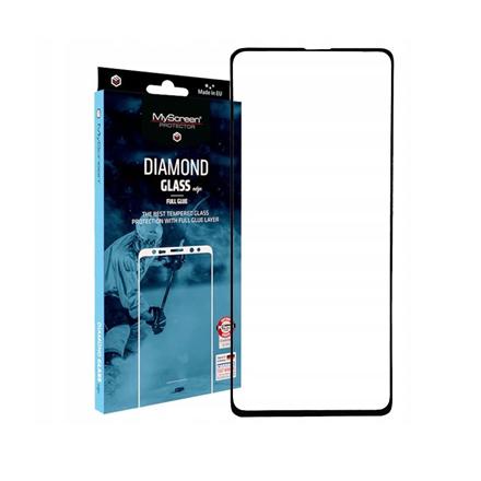 MyScreen Diamond glass edge Full Glue Screen protector, Samsung, Galaxy A51, Tempered glass, Transparent/Black