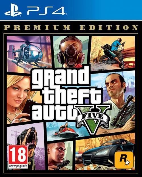 GAME GRAND THEFT AUTO V PREM//PS4 SONY