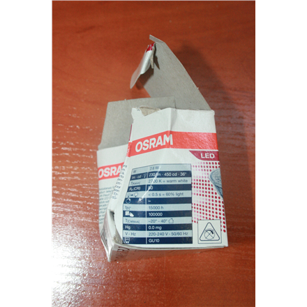 SALE OUT. Osram Parathom Reflector LED GU10, 2.6 W, Warm White - DAMAGED PACKAGING