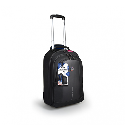 """PORT DESIGNS CHICAGO EVO 170231 Fits up to size 15.6 """", Black, Backpack/Roller"""