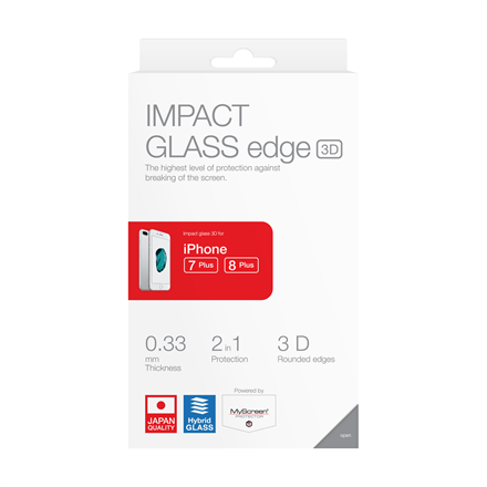 Impact glass 3D for iPhone 7 plus /8 plus