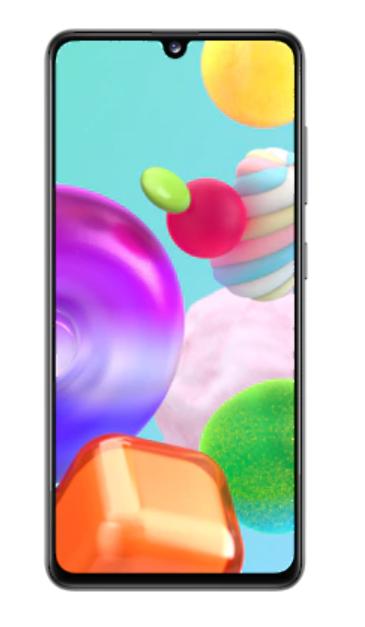 "Samsung Galaxy A41 Prism Crush Black, 6.1 "", Super AMOLED, 1080 x 2400, Mediatek MT6768 Helio P65, Internal RAM 4 GB, 64 GB, microSD, Dual SIM, Nano-SIM, 3G, 4G, Main camera Triple 48 + 8 + 5 MP, Secondary camera 25 MP, Android, 10, 3500 mAh"