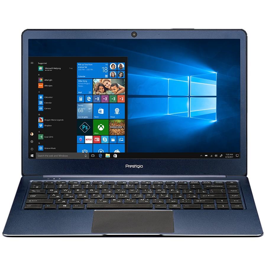 """Prestigio SmartBook 141S, 14.1""""(1920*1080) IPS (anti-Glare), Windows 10 Home, up to 2.4GHz DC Intel Celeron N3350, 3GB DDR, 32GB Flash, BT 4.0, WiFi, Micro HDMI, SSD slot(M.2), 0.3MP Cam, EN+RU kbd, 5000mAh, 7.4V bat, Blue"""