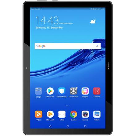 "Huawei MediaPad T5 10.1 "", Black, IPS LCD, 1920 x 1200, HiSilicon Kirin 659, 2 GB, 32 GB, 3G, 4G, Front camera, 2 MP, Rear camera, 5 MP, Bluetooth, 4.2, Android, 8.0"