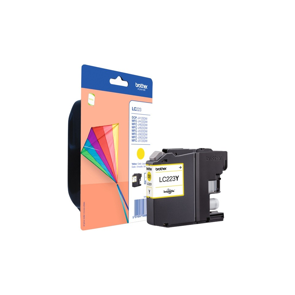 Brother LC223Y ink cartridge, yellow