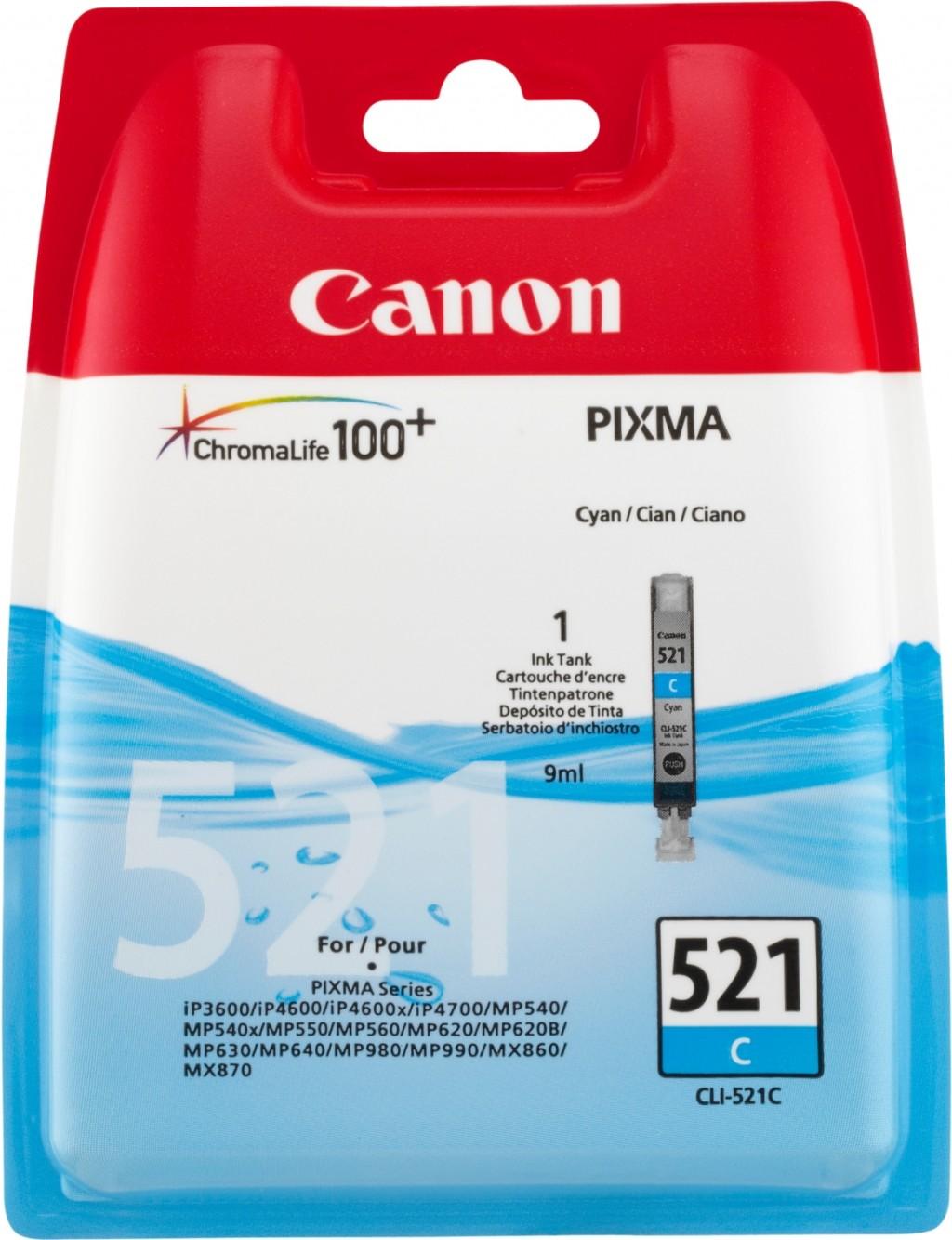 Canon CLI-521C ink cartridge, cyan